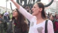 Thousands of people on Sunday attended a rally in Ankara under heavy security to remember the at least 95 people killed in twin bombings in the...