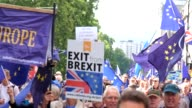 Thousands of people protesting the UK's exit from the EU demonstrate in London United Kingdon on September 9 2017