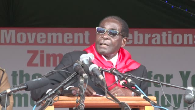 Thousands of people turned out Sunday to wish happy birthday to Zimbabwe's President Robert Mugabe who threw 90 balloons into the air to mark his...