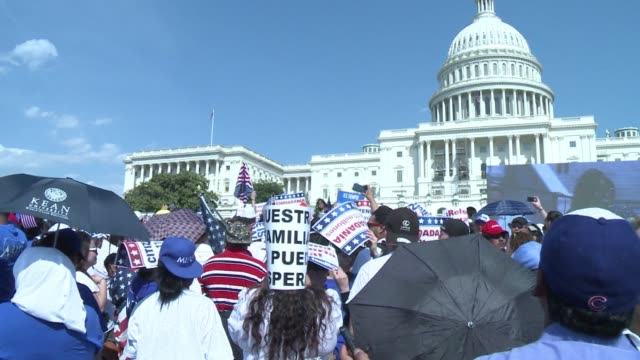 Thousands of people turned up outside the Capitol in Washington on Wednesday to call for immigration reform CLEAN Rally for immigration reform draws...