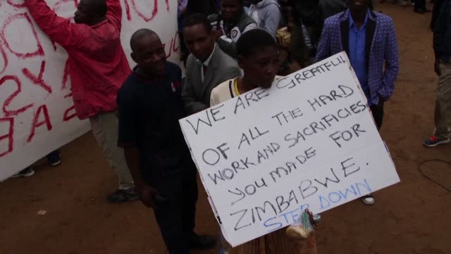 Thousands of protesters flood Zimbabwe's streets demanding Robert Mugabe's resignation in a movement organised by independence war veterans and...