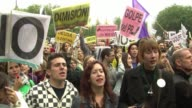Thousands of protesters rallied again Saturday in Spain where the government submitted an austerity budget and said the public debt and deficit are...