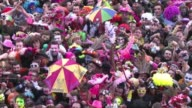Thousands of revelers took to the streets of Dunkirk in Northern France to take part in the town's yearly carnival