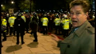 Thousands of students protest against tuition fees rise violence erupts Reporter to camera