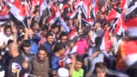 Thousands of supporters of Iraqi Shiite cleric Muqtada alSadr gather at the at Tahrir Square to demand governmental reforms during an antigovernment...