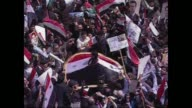 Thousands of supporters of Syrian President Bashar alAssad poured into central Damascus in a show of support for their leader who is facing...