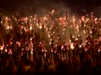 Thousands of torches burn for the Up Helly Aa annual festival