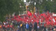 Thousands of Turkish people living in Europe attend prodemocracy rally in Cologne on July 31 2016 to protest July 15 failed coup attempt in Turkey