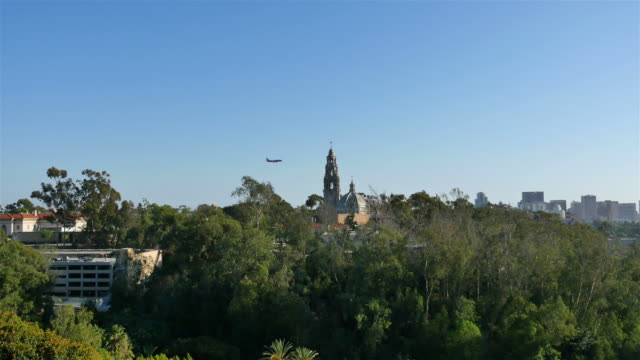 Three aerial shots of Balboa Park in 4K
