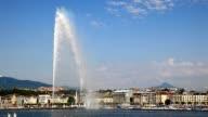 Drei wunderschönen Blick auf die Stadt Genf.