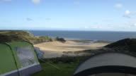 Three Cliffs Bay Holiday Park, Gower Peninsula, Wales, UK.
