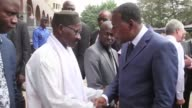 Three days after a jihadist attack on a luxury hotel that left 19 people dead in Malis capital Bamako Benins President Thomas Boni visited the hotel...
