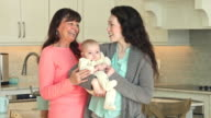 Three generation family with baby