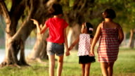 three girls walking