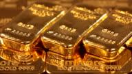 MS Three gold ingots  on other gold / Hanau, Hesse, Germany