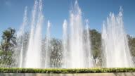 Three high Fountain in the garden
