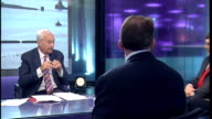 Three main parties discuss Trident nuclear deterrent ENGALND London GIR INT Bob Ainsworth Ed Davey and Liam Fox LIVE