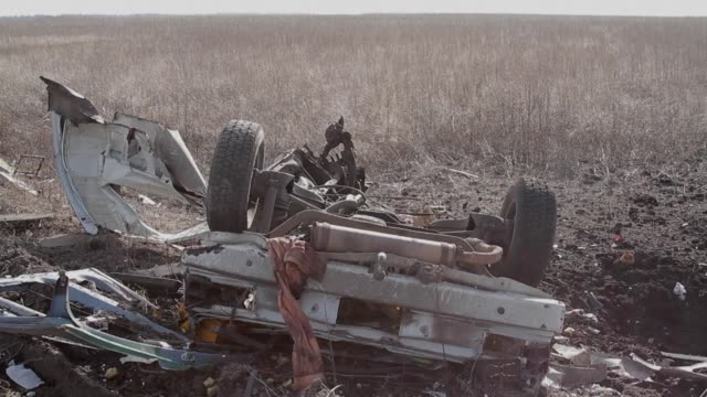 Three people die after a passenger minibus hits a mine in separatist eastern Ukraine during a relative calm in fighting in the 21 month war