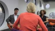 Three people team meeting