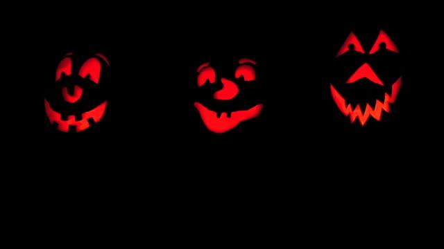 Drei Pumkins Glühend
