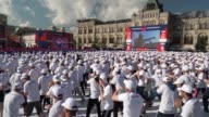 Three thousand boxers trained on Red Square on Saturday in a bid to break the Guinness World Record for the world's largest boxing lesson
