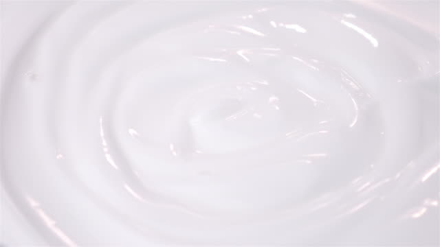 Three videos of swirling yogurt in 4K