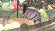 Three weeks after makeshift camps at Paris's porte de La Chapelle were cleared by authorities tents are once again proliferating in the area with a...