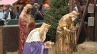 Three Wisemen In Nativity Scene at Daley Plaza on November 30 2013 in Chicago Illinois