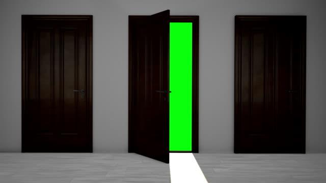 Drei hölzerne Tür