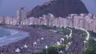Throngs of pilgrims spent the night sleeping on the beach before a final mass Sunday in Brazil by Pope Francis capping a trip aimed at reviving the...