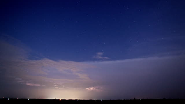 Thunderstorm Time Lapse with Stars