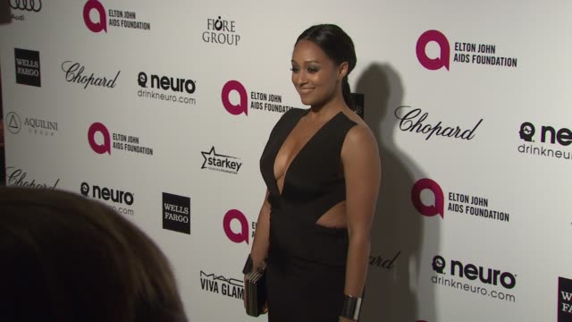Tia Mowry at the 23rd Annual Elton John AIDS Foundation Academy Awards Viewing Party Sponsored By Chopard Neuro Drinks And Wells Fargo on February 22...