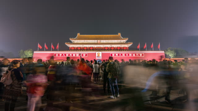 T/L WS ZO Tiananmen Gate and Tourist / Beijing, China