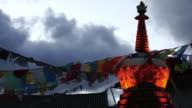 Tibetan Stupa in the Old Town of Shangri-La, Yunnan, China