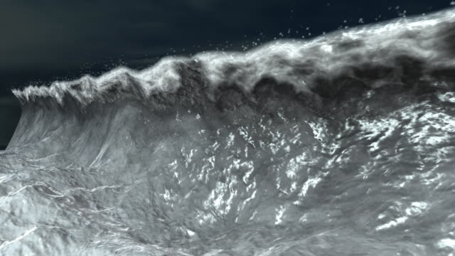 Tidal Wave Animation Stock Footage Video | Getty Images