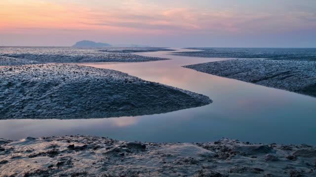 WS T/L Tide and mud flat at Ganghwado Island / Incheon, South Korea