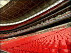 Tiers of seating at Wembley Stadium London