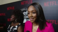 INTERVIEW Tiffany Haddish on how Def Comedy Jam influenced her career the impact on comedy why people love it why she is here tonight at Netflix...