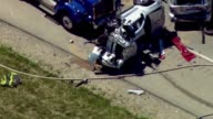 Tight Shot Of MultiVehicle Accident on July 13 2013 in Gurnee Illinois