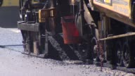 Tight shots of a street being paved on July 12 2014 in Chicago Illinois