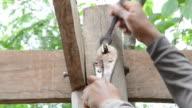 tightening a nut