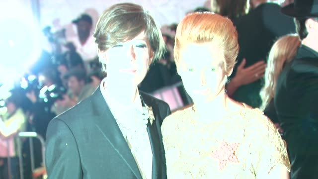 Tilda Swinton and guest at the 'Superheroes Fashion and Fantasy' Costume Institute Gala at The Metropolitan Museum of Art at the Metropolitan Museum...