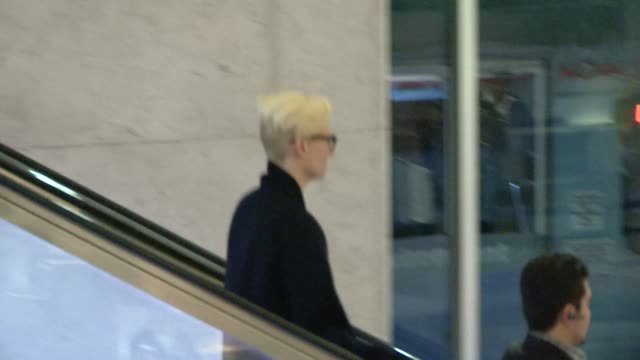 Tilda Swinton arrives at LAX Airport on March 09 2014 in Los Angeles California