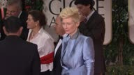 Tilda Swinton at 69th Annual Golden Globe Awards Arrivals on January 15 2012 in Beverly Hills California