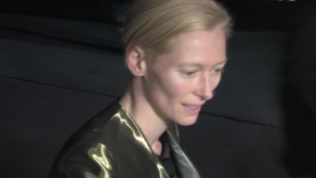 Tilda Swinton at Chateau Marmont in West Hollywood 01/15/11 at the Celebrity Sightings in Los Angeles at Los Angeles CA