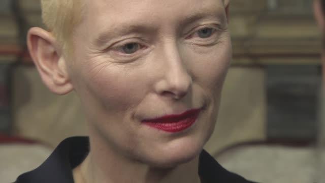 Tilda Swinton at 'Doctor Strange' UK Premiere at Westminster Abbey at Westminster Abbey on October 24 2016 in London England
