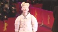 Tilda Swinton at 'Hail Caesar' Opening Ceremony Red Carpet 66th Berlin International Film Festival at Berlinale Palast on February 11 2016 in Berlin...