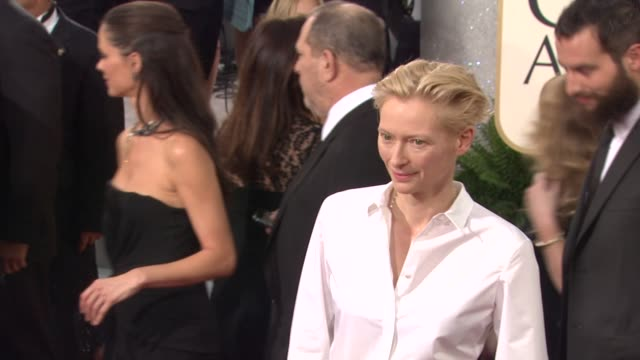 Tilda Swinton at the 68th Annual Golden Globe Awards Arrivals Part 2 at Beverly Hills CA