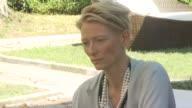 Tilda Swinton at the Io Sono L'Amore Interviews Venice Film Festival 2009 at Venice