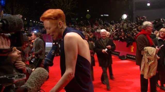 Tilda Swinton at the Opening Red Carpet/Tuan Yuan Premiere 60th Berlin Film Festival at Berlin